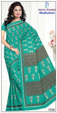 Black Desinger Cotton Saree