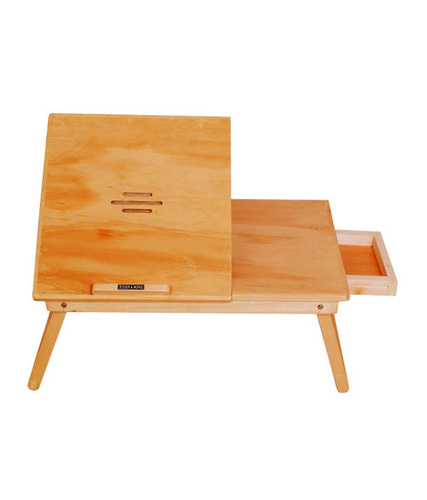 Laptop Table With Slots & Drawer