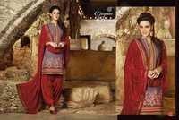 Brighthy Red Fully Punjabi Patiyala Suit
