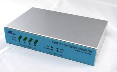 TCP/IP to 4-Port RS232/RS422/RS485 Converter