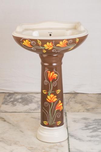 Color Pedestal Wash Basin