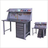Work Bench With Wall Panel