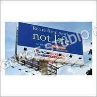 Unipole Advertising Hoarding