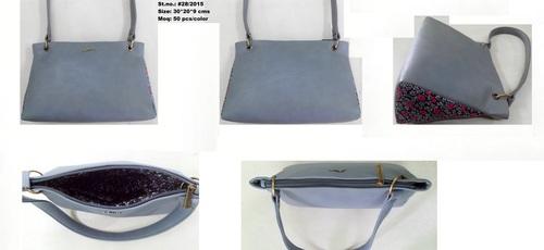 Grey Classic Hobo Bag