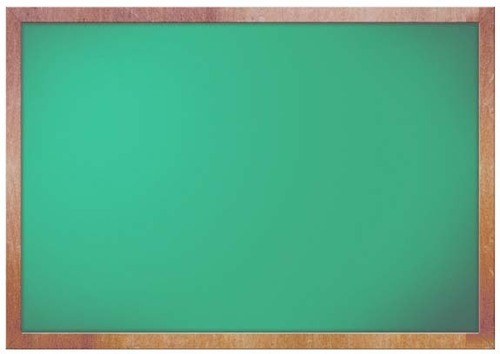 Wooden Frame Non Magnetic Green Chalk Board