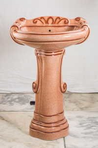 Colored Big Sterling Wash Basin