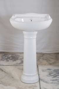 Ceramic Wash Basin with Pedestal