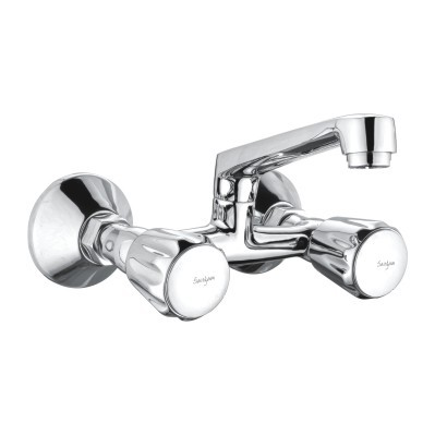 Brass Wall Mixer With Swinging Spout