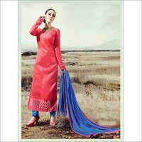Light Red Simple Straight Suit