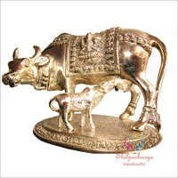 Metal Cow Calf Statue
