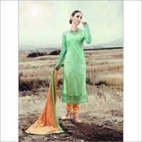 Fancy Light Green Silk Suit