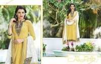 Navy Cream Royal Embroidered Cotton Salwar Suit