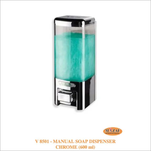 Manual Soap Dispenser Chrome (600ml)