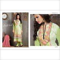 Sea Green Multi Embroidered Straight Salwar Kameez