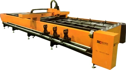 Plates and Pipes Fiber Laser Cutting Machine with Daul-Drive