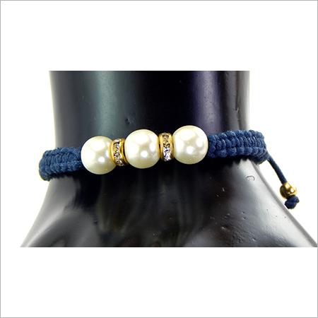 Designer White Glass Stone Bracelet
