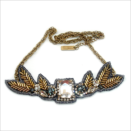 Fashionable Embroidered Necklace