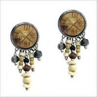 Multi Colored Beaded Earring