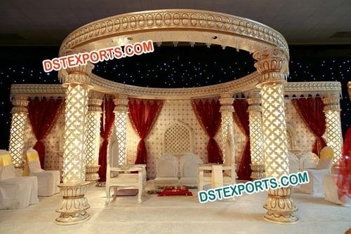 Wedding Carved Lighted Mandap New Design