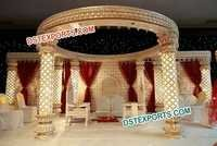 Wedding Carved Lighted Mandap New Design