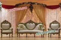 INDIAN WEDDING GOLD LOVE SOFA