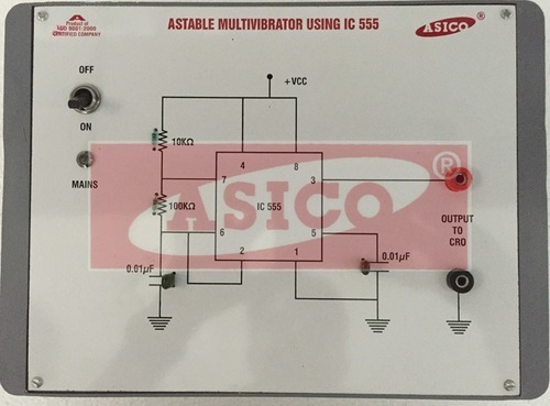 Astable Multivibrator Using IC 555