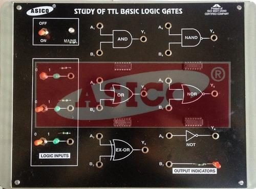 Study Of Logic Gates Using TTL ICs 6 in 1