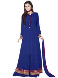 Attractive Latest Designer Dark Blue Anarkali Suits
