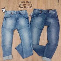PLAIN AND PRINTED MENS DENIM JEANS