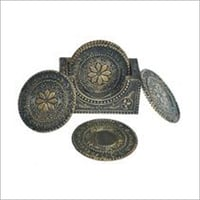 Noble Antique Silver Tea Coasters