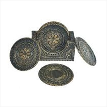 Noble Antique Silver Tea Coasters