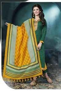 Greeny Yellow Low Range Bhagalpuri Silk Suit