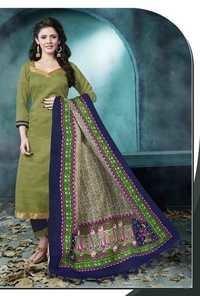 Olive Navy Low Range Bhagalpuri Silk Suit