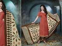 Rust Brown Low Range Bhagalpuri Silk suit