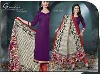 Magenta Navy Low Range Bhagalpuri Silk Suit