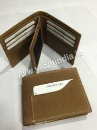 Brushed off Leather Wallet
