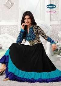 Eid Speical Blue Anarkali Suit