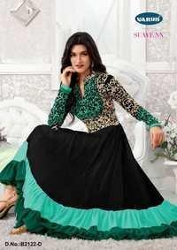 Eid Speical Aqua Green  Anarkali Suit