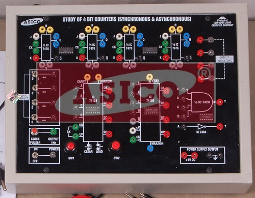 Study of 4 Bit Counters(Synchronous&Asynchronous)
