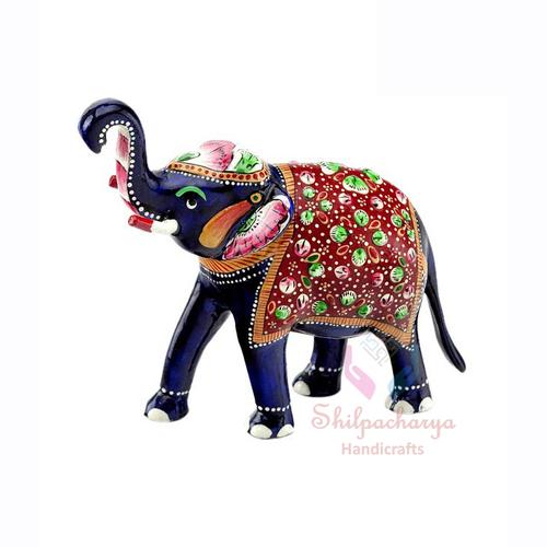 Meenakari Elephant Statue