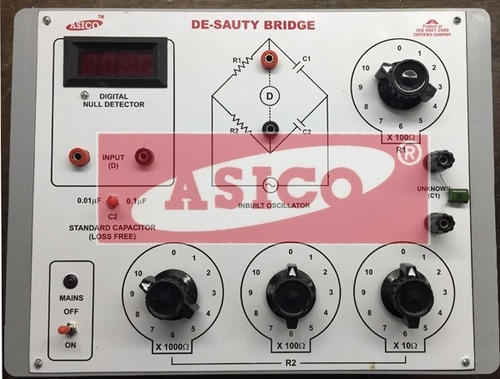 Desauty Bridge with Null Detector and oscillator