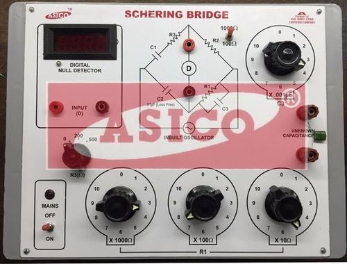 Schering Bridge with Null Detector & Oscillator
