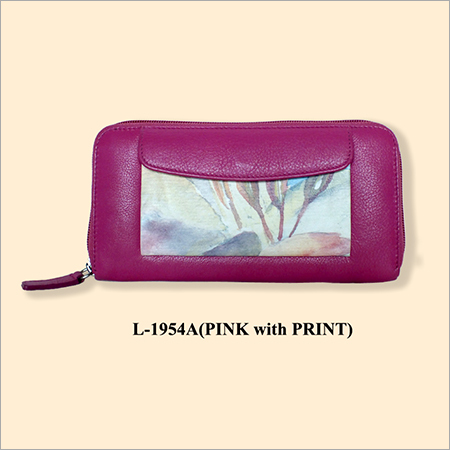 Printed Leather Purses