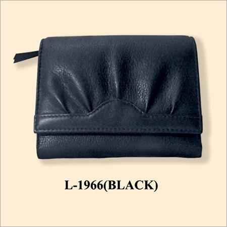 Ladies Black Leather Wallets
