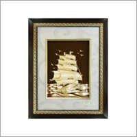 24 KT Gold Foil Ship