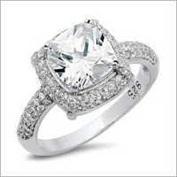 925 Sterling Silver Solitaire Ring