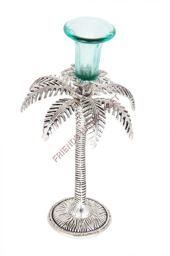 Silver-khajur-Candle-Stand