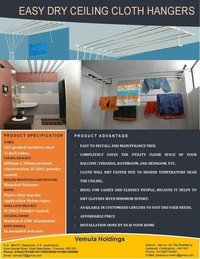 Ceiling mounted lift and pull type clot hangers