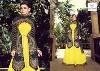 Eid Special Yellow Pure Net Anarkali Suit