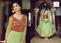 Eid Special Sea green  Pure Net Anarkali Suit